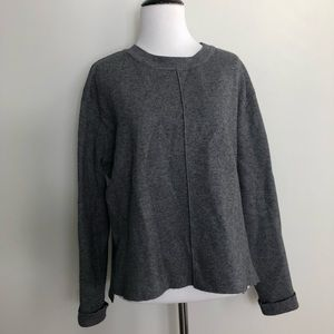 Zara Knit Gray Crewneck Sweater